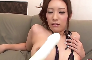 Yui Kasuga amazes with her cock sucking skills - More at Japanesemamas com