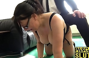 Busty plump mature lady dominated and pounded Mr Big hard