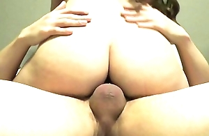 Fat Ass White Girl Rides in Reverse Cowgirl