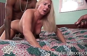 MILF get Gang Fucked by young Black men while her husband is forced to watch
