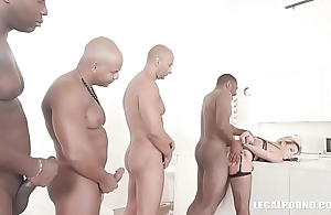 Clementine Marceau comes to get black cock, double anal &amp_ hard fucking