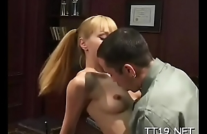 Hot big ass schoolgirl gets her trimmed slit fucked roughly