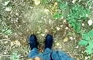 Teen is Pissing and Cumming on his Dirty used Sneakers