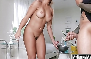 Housekeeper Mercedes Carrera works on two BBC brothers