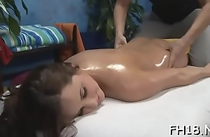 Hot playgirl sucking off deep her massage therapist