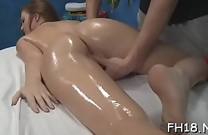 Hawt drilled hard and facialed by way of a massage video