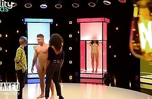 Naked hunk man on TV