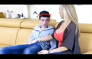 Stepmom blackmails son and fucked by son and father