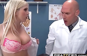 Two slutty nurses (Christie Stevens, Jacky Joy) service doctors cock - BRAZZERS