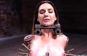 Alt slave in device bondage whipped