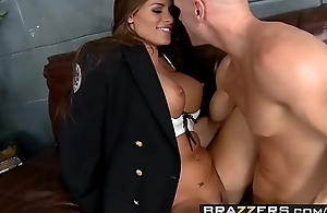 Slutty cop (Madelyn Marie) investigates some big cock - BRAZZERS