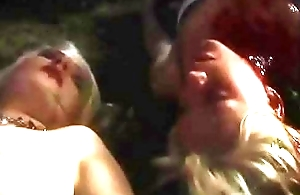 two blondes teen  rapped/forced by monster