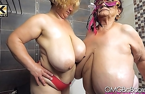 2 older ladies nearby huge tits