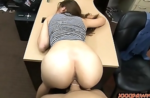Pretty babe in heels nailed by pawn man in his pawnshop