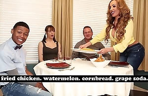 BANGBROS - MILF Richelle Ryan Adopts Lil D'_s Big Black Cock, Invites Him Over For Dinner