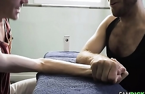 Hairy Stepdaddy Barebacked Twink Stepson After Workout