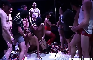 Huge rave club orgy with tons of guys and German sluts