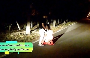 Pranya getting fucked on running road with Police Sirens behind