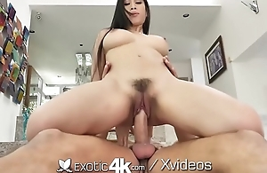 EXOTIC4K Busty asian GRINDS sopping pussy on thick dick