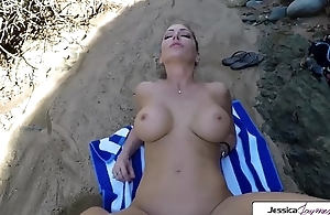 Jessica Jaymes gets fucked extensively in the beach by a huge cock, big boobs and big booty